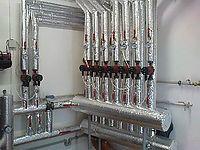 Kotelna - 2x radiatorový okruh + 7x směšovaný podlahový okruh